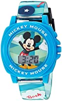 Disney Boy's Digital Plastic Casual Watch, Color:Blue (Model: MK1328)