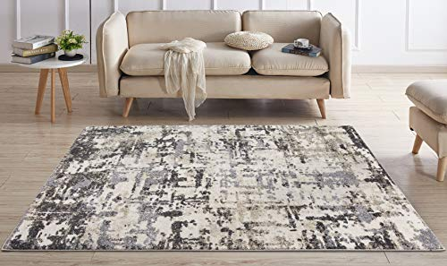Concord Global Charlotte Collection Atlantis Ivory 6-ft 7-in x 9-ft 3-in Area Rug ()