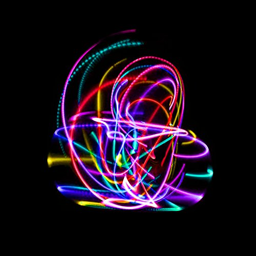 The Hoop Shop LED Hula Hoop - 14 Color Changing LED Lights - Multiple Sizes Available - Technicolor Prism (36) by The Hoop Shop (Image #3)