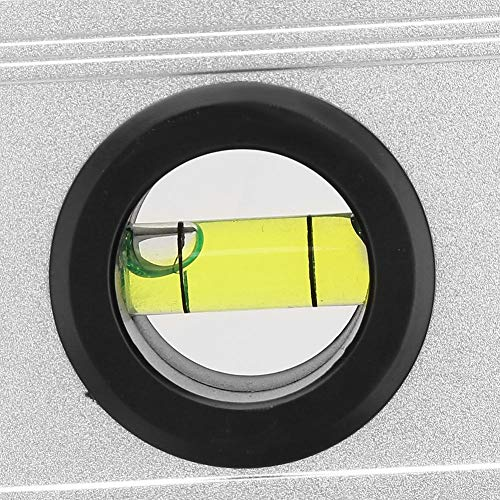 0.05 Degree Resolution Level Ruler Protractor, 4x90 Degree Level, Aluminum Alloy((248mm) Take the battery and ship it)