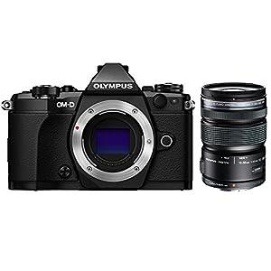 Olympus OM-D E-M5 Mark II Micro Four Thirds Digital Camera Body Only Black (V207040BU000) with Olympus M.ZUIKO DIGITAL ED 12-50mm F3.5-6.3 EZ Lens Black