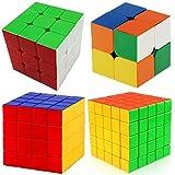 Speed Stickerless Cube Bundle Magic Cube Puzzle Set 2x2 3x3 4x4 5x5 Cube Collection