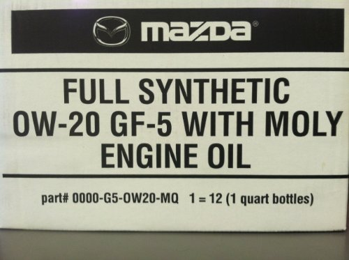 12PK MAZDA FULL SYNTHETIC 0W-20 GF-5 WITH MOLY ENGINE OIL by Mazda