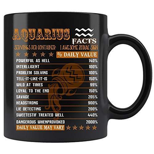 (Aquarius Facts Awesome Mug For Aquarius Zodiac Coffee Mug 11oz Gift Tea Cups 11oz)
