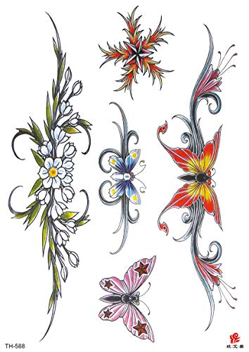 Butterfly Flower Tramp Stamp Large 8.25