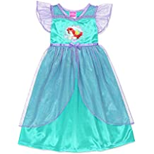 The Little Mermaid Ariel Girls Fantasy Gown Nightgown Pajamas (Toddler/Little Kid/Big Kid)