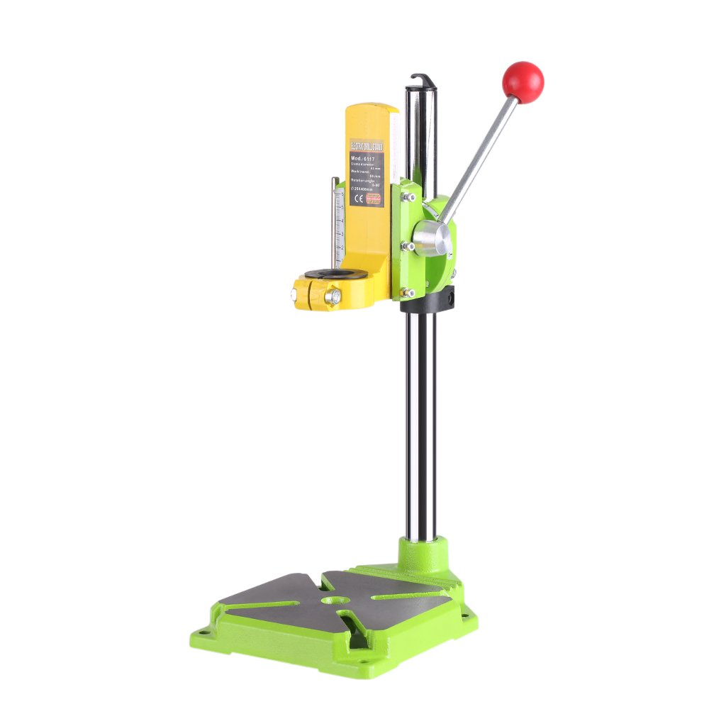 KKmoon High Precision Electric Power Drill Press Stand Table Rotary Tool Workstation Drill Workbench Repair Tools Clamp Work Station with 0-90 Degree Rotating Fixed Frame for Drilling Collet Table VJZ8461230322307YR
