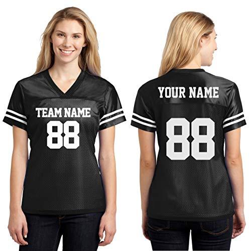 Custom Sports Jerseys for Ladies - Make Your OWN Jersey T Shirts & Team Uniforms Black (Designing A Logo With The Logo Creator)
