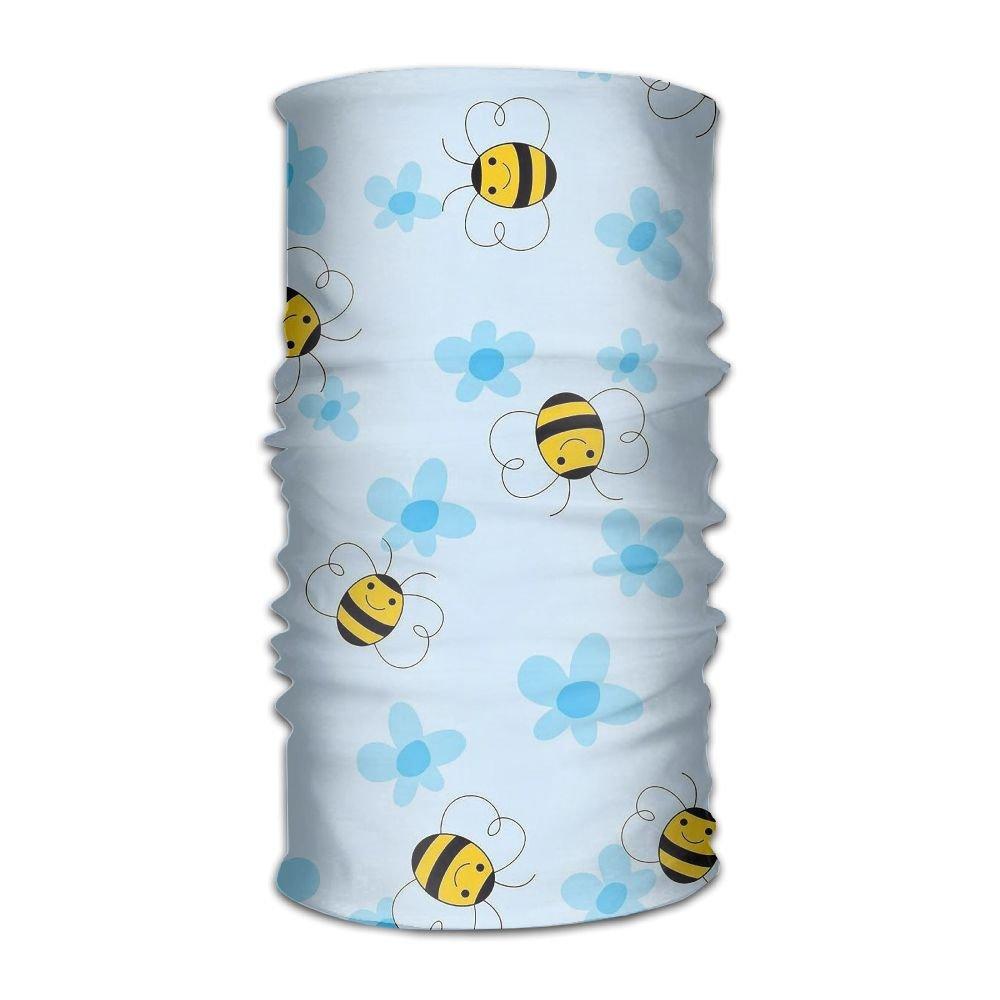 Owen Pullman Multifunctional Headwear Bumblebee Cartoon Head Wrap Elastic Turban Sport Headband Outdoor Sweatband