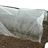 GardenTrends Low Tunnel Punched Row Cover - 1 mil. - 6' Wide - 3/8 Punched Holes at 4.5'' Spacing (500)