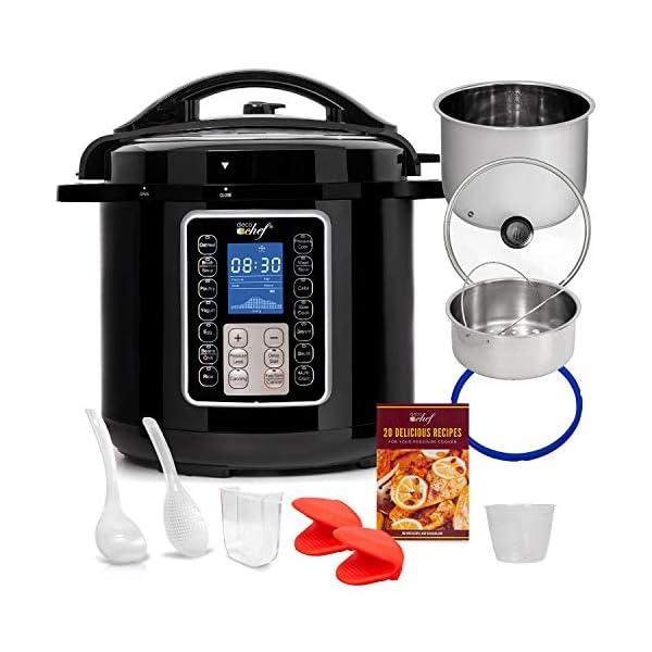Deco Chef 8 QT 10-in-1 Pressure Cooker Instant Rice, Saute, Slow Cook, Yogurt, Meats, Deserts, Soups, Stews Includes… 1