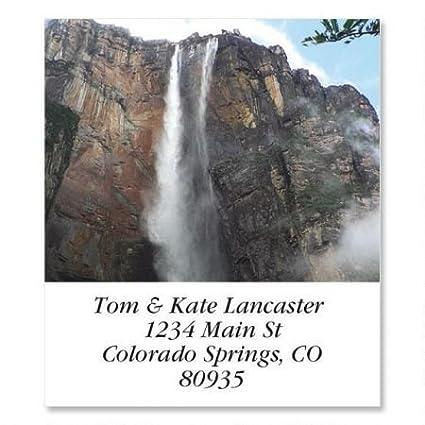 amazon com angel falls square return address labels set of 144 1