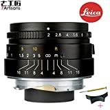 7artisans 35mm F2.0 Leica M Mount Fixed Lens for Leica M-Mount Cameras Like Leica M-M Leica M240 Leica M3 Leica M6 Leica M7 Leica M8 Leica M9 Leica M9p Leica M10 - Black Color