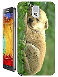 Cute Dog sleep on the Glass lovely cell phone cases for Samsung Galaxy N3