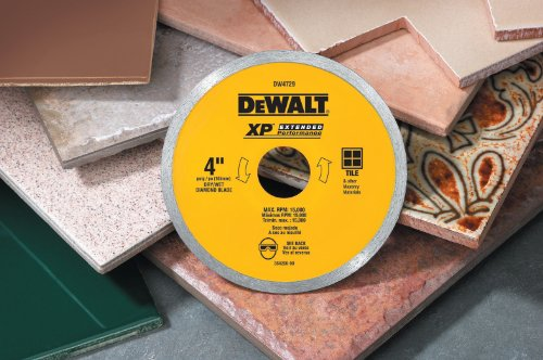 028874047297 - DEWALT DW4729 4-Inch Continuous Rim Diamond Saw Blade with 7/8-Inch Arbor for Tile carousel main 2