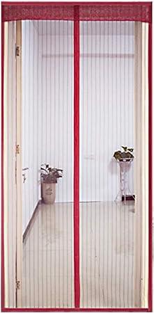 OLDLU De Puerta de Pantalla magnética,Heavy Duty Autoadhesivo Actualizado Este Hotel de Mascotas y niño Puerta corredera Patio Puerta Doble-J 63x91inch(160x230cm): Amazon.es: Hogar