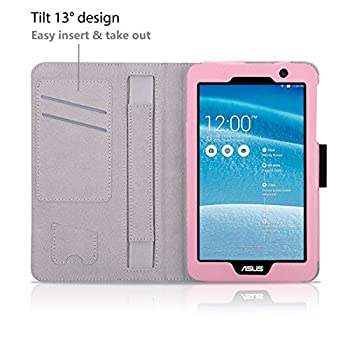Exact Asus Memo Pad 7 Me176cx Case [Pro Series] - Professional Folio Case For Asus Memo Pad 7 (Me176cx) Light Pink 6