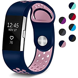 Maledan Replacement Sport Bands with Air Holes for Fitbit Charge 2