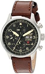 Ingersoll Men's IN1513SBK Bison No. 71 Analog Display Automatic Self Wind Brown Watch