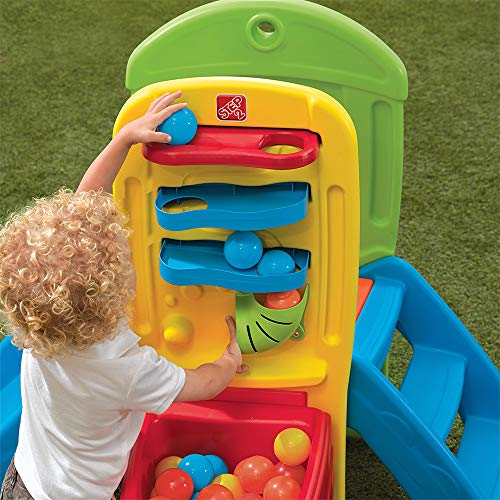 Step2 Play Fun Climber Ball for Toddlers – Durable Outdoor Indoor Kids Slides and Crawl Space with 10 Balls – Multicolor
