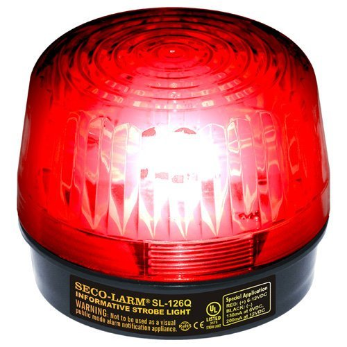 Seco-Larm SL-126Q/R Red Strobe Light (Set of 2); For 6- to 12-Volt use; For Iinformative