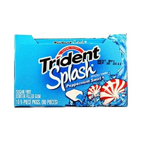 Product Of Trident Splash, Peppermint Swirl, Count 10 (9Pcs) - Gum / Grab Varieties & Flavors - Peppermint Splash