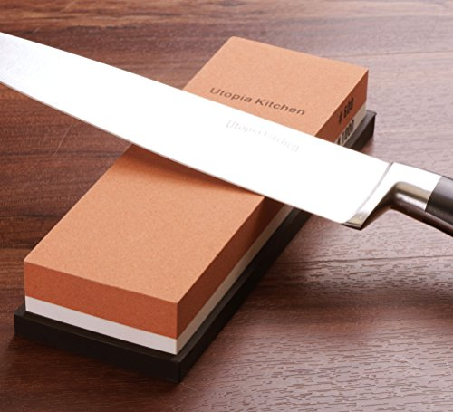 Utopia Kitchen Double-Sided Knife Sharpening Stone - Multi-Colored - 600/1000 Grit by Utopia Kitchen (Image #2)
