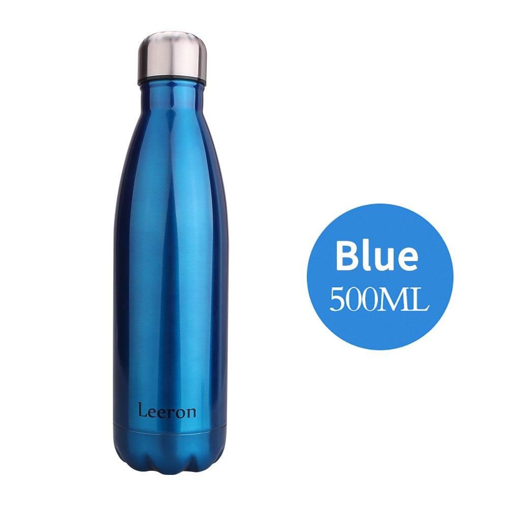 Leeron 500ml Trinkflaschen Edelstahl-Wasserflasche Vakuum ...