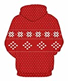 Graces Secret Couple 3D Santa Print Ugly Christmas Kangaroo Pocket Sweatshirt Hoodies Pullover