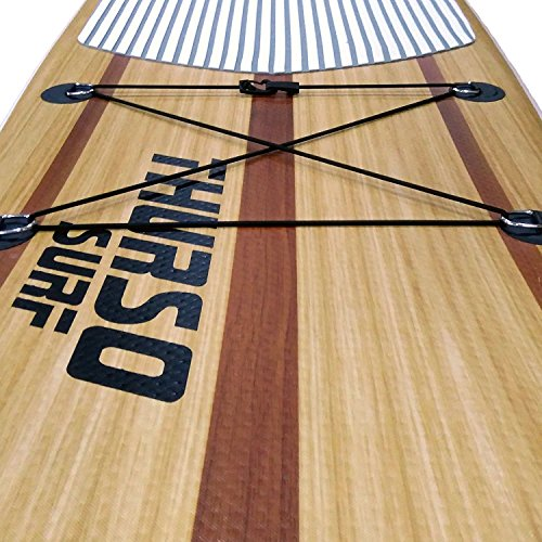 THURSO SURF Deck Bungee Rigging for Stand Up Paddle Board SUP and Kayak 1/5 Shock Cord 6 Feet with Hooks