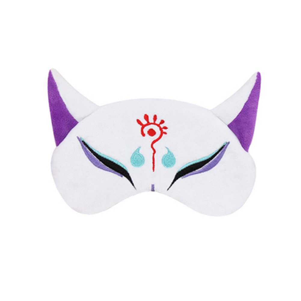 YangYong Fox Style Eyeshade Made of Cotton and Short Plush for Good Sleep (1412cm good elasticity, as image)