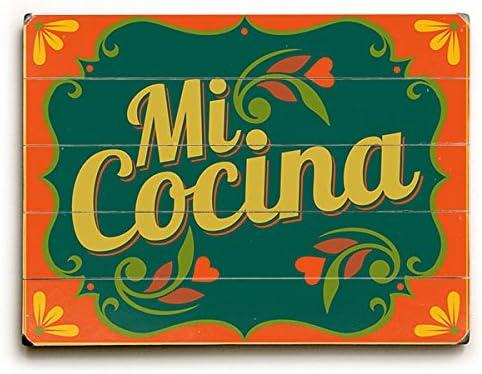 Amazon Com Mi Cocina By Artist Michael Dexter 9 X12 Solid Wood