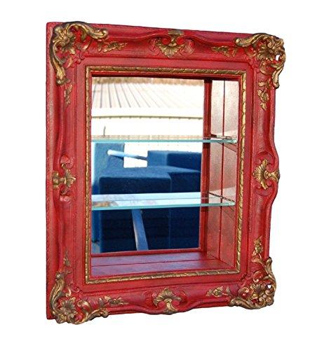 Ornante Curio Shelf/Aged Red Gold (Manor Curio)
