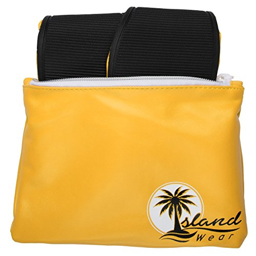 Island Wear Womens Foldable Ballet Flats Travel Shoes With Carrying Clutch Case Yellow maUR5iySI