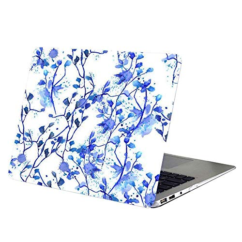 Macbook Pro 15 Inch Case 2017 / 2016 Release, YMIX Hard PC Case Cover Matte Rubberized Protective Case for 2016 & 2017 Macbook Pro 15 A1707 with Touch Bar & ID No CD-ROM (Indigo Flower) ()