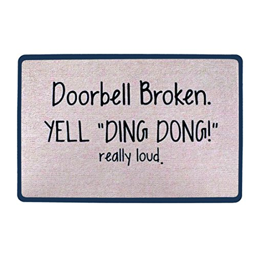 Pinji Funny Doormat Non-slip Rubber Entrance Mat Floor Mat Rug Indoor/Outdoor/Front Door/Bathroom Mats Personalized Really Loud 23.6(L) x 15.7(W)inch