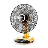 XUERUI Floor Fan Household Rotary Fan Desktop Electric Fan Offices Dormitory Shake His Head Horizontally (Color : Yellow)