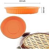 """Ayamaya Food-grade 8.5"""" Silicone Round Cake Pan Bread Baking Pan 8.5*0.8 Inch Holiday Bakeware"""