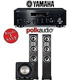 Yamaha R-N803BL Network Stereo A/V Receiver + Polk Audio TSi 400 + Polk Audio HTS12 - 2.1-Ch Home Theater Package