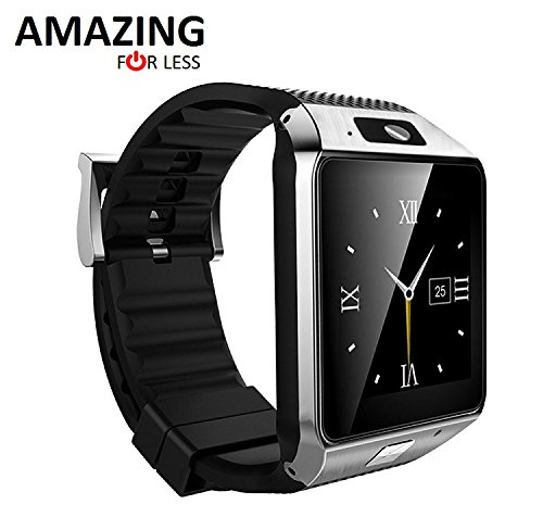 Amazingforless Bluetooth Touch Screen Smart Wrist Watch Phone with Camera - Silver