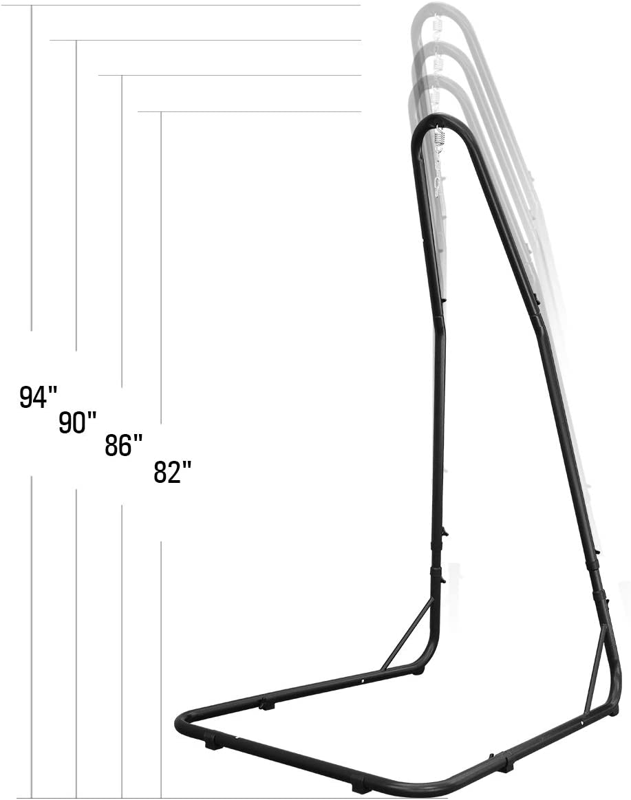 Barton Adjustable Hammock Stand, Height Adjust from 78 to 94 inch Arc Hammock Stand for Hammock Air Porch Swing Chair