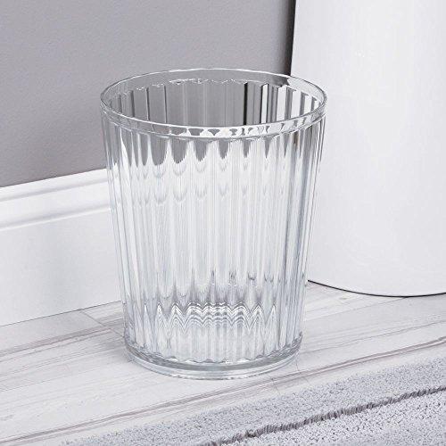 InterDesign Alston Wastebasket Trash Can Clear Waste Can