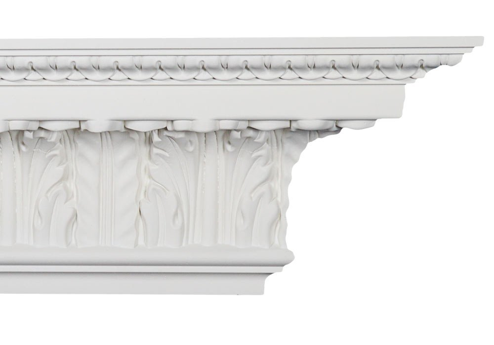 Crown Molding - Plastic Crown Moulding Manufactured with a Dense Architectural Polyurethane Compound. CM-2034 Crown Molding. (3)
