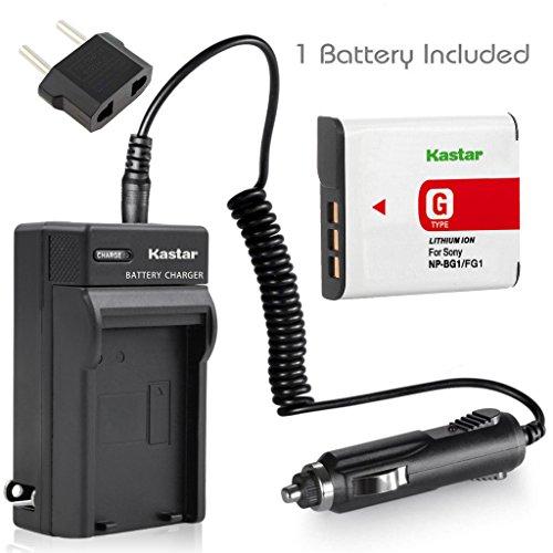 Kastar Battery+Charger for Sony CyberShot DSC-W130 DSC-W1...