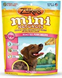 Zuke's Mini Naturals Healthy Moist Dog Treats Variety Pack - 3 Flavors (Roasted Pork, Wild Rabbit, & Fresh Peanut Butter) - 6 oz Each (3 Total Pouches)