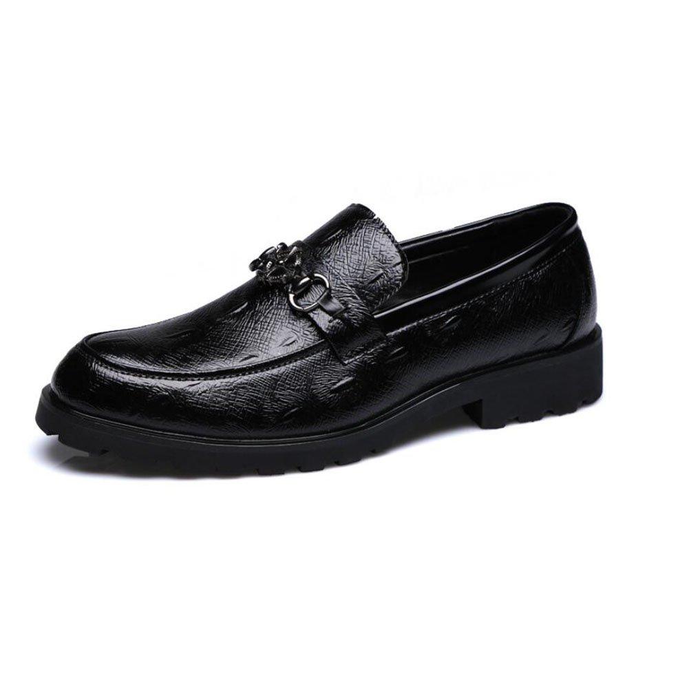 Herrenschuhe Leder Oxford Schuhe Formale Geschäft-Schuhe Herbstmode Stiefel Hochzeit/Party & Abend (Farbe : Schwarz, Größe : 43)