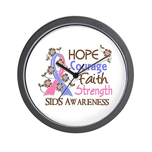 CafePress Hope Courage Faith SIDS Shirts Wall Clock by CafePress