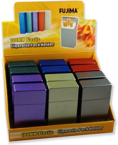 Hard Box Full Pack Cigarette Case (100's Size) (One Dozen) ()