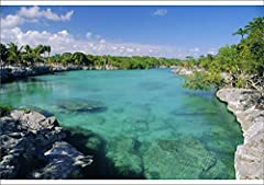 A2 POSTER. A2 (23x16 inches) Poster Artwork depicting Xel-Ha Lagoon National PArk, Yucatan Coast, Mexico, Central America. USA posters are printed on Vibrance Luster 255gsm heavyweight photo paper for maximum color and vivid images. They are ...