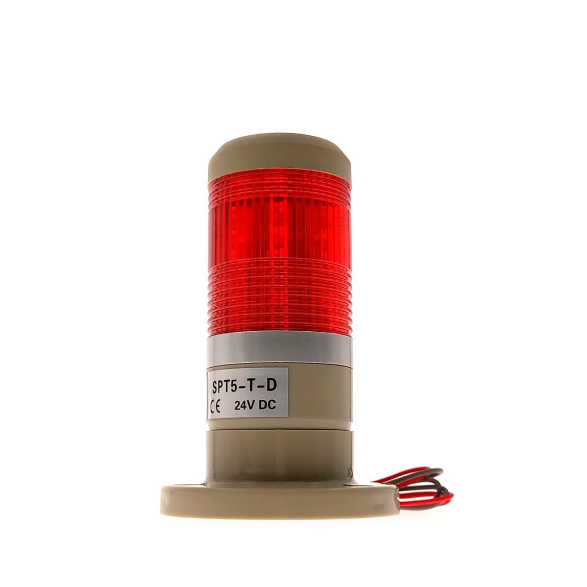 YXQ Industrial Signal Red Light DC 24V Safety Warning Tower Bulb Indicator Lamp(SPT5-T-D) by YXQ